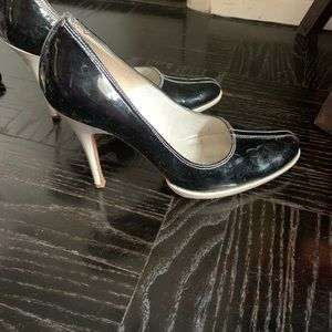 Patent Leather and White Charles David Heels